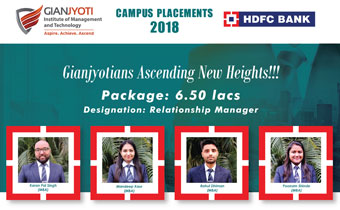 Gian Jyoti Campus Placements 2018