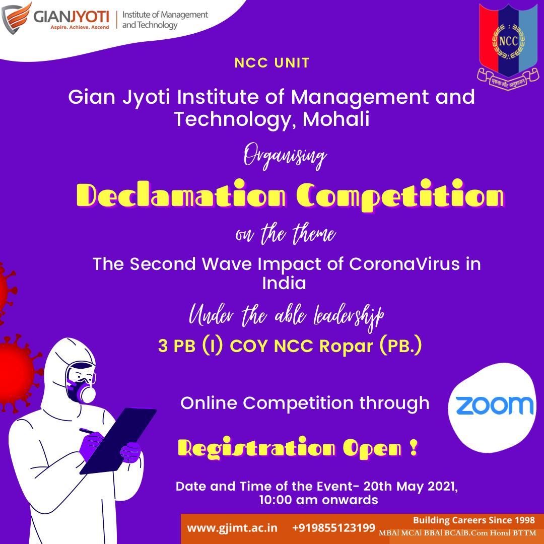 NCC Unit-Declamation Competition